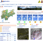 Home page del sito www.meteotrentino.it