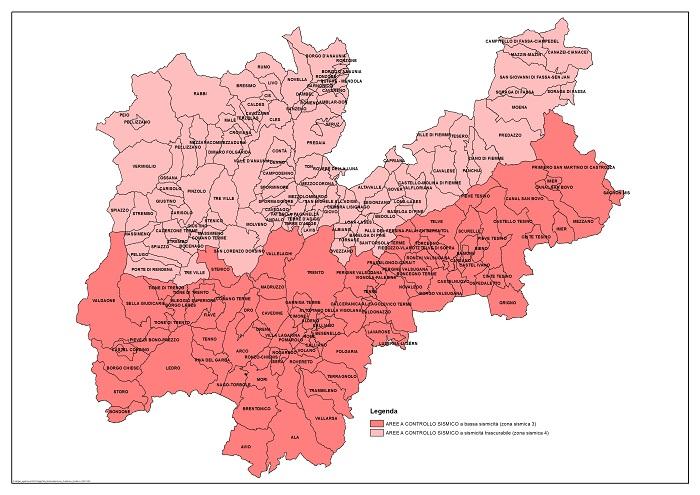 Cartina Trentino.Classificazione Sismica Territorio Provinciale Sismologia E Pericolosita Protezione Civile Provincia Autonoma Di Trento